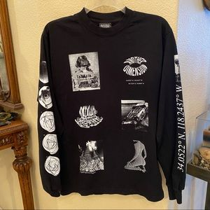 IGNORED PRAYERS Black Graphic Long Sleeve Top-S